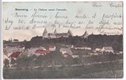 Beauraing Cpa Le Château Avant L'incendie Anno 1901 - Beauraing