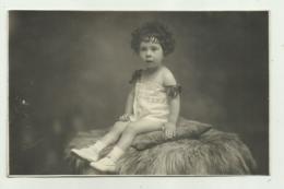 BAMBINA   CARTOLINA FOTOGRAFICA  1927  NV FP - Photographs