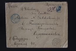 Registered Cover Helville Nossi Be -> St. Petersburg Russia Shipcancel Reunion1902 Rare Destination Pair 50c Madagascar - Cartas