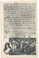 DERNIER ADIEU DE CHARLOTTE CORDAY A SON PERE . PRISON DE L'ABBAYE 16 JUILLET 1793 . CARTE NON ECRITE - France