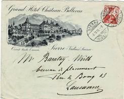 1911, Bf. Mit Hotel-Abbildung ,  #2235 - Cartas