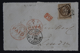 France Front Of Cover Last Day Of Use Cancel 3rd September 1870  Boulogne GC 549 PD  Dernier Jour D'utilisation - 1849-1876: Classic Period