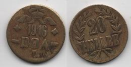 + ALLEMAGNE   + 20 HELLER  1916  DOA + OSTAFRICA + - Afrique De L'Allemagne De L'Est