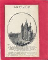 PARIS  LE TEMPLE + LONG HIST SUR RECTO . CARTE NON ECRITE - France