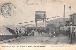 42-ROANNE- SUR LES QUAIS DU BASSIN, LA GRUE BONNAUD - Roanne
