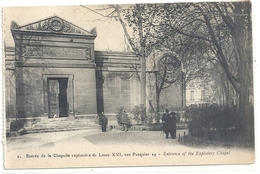 PARIS  ENTREE DE LA CHAPELLE EXPIRATOIRE DE LOUIS XVI RUE PASQUIER , 29 . CARTE NON ECRITE - France