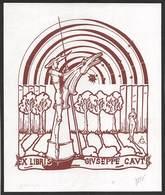 """08452  """"EX LIBRIS - GIUSEPPE CAUTI"""" ORIG. - Ex Libris"""