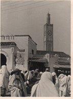 95Bv    Photo Tanger Place Du Marché Et Minaret - Tanger