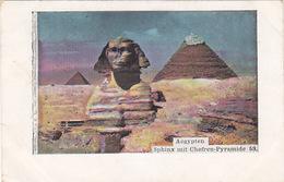 Sphinx Mit Chefren-Pyramide - 1900     (A-112-160821) - Sphinx