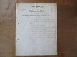 EMPIRE FRANCAIS LE 26 AOUT 1863 PREFECTURE DU NORD PERMIS DE CHASSE SIEUR GOMET DE FOURMIES - Manuscripts