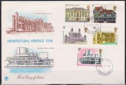 Großbritannien1975 FDC MiNr.673 - 677 Europäisches Denkmalschutzjahr  ( D 3742 )günstige Versandkosten - 1971-1980 Dezimalausgaben