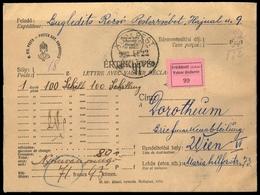 1927, Ungarn, 427, Brief - Ohne Zuordnung