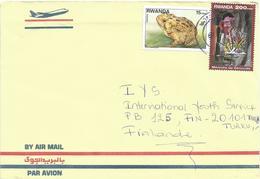 Rwanda 2001 Kigali Toad Frog Genocyde Memorial Cover - 1990-99: Afgestempeld