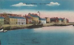Calvados : PORT-en-BESSIN : Quai Félix-faure ( Colorisée ) - Port-en-Bessin-Huppain