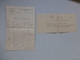 Montmorillon 1913 Médaille Sous-préfet VATIN épidémie Suette à JOUHET, Ref 468 ; PAP05 - Autogramme & Autographen