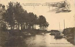 CPA 33 Gironde Cazaux Lac Entrée Du Lac Et Le Port Hydravion Avion - Autres Communes