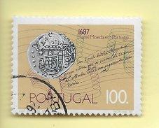 TIMBRES - STAMPS - FRANCOBOLLI - PORTUGAL - 1987 - 300 ANS DE L'ÉMISSION DU PAPIER-MONNAIE - TIMBRE OBLITÉRÉ - Oblitérés