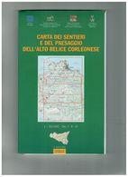 CARTA DEI SENTIERI E DEL PAESAGGIO DELL'ALTO BELICE CORLEONESE 3 CARTE 1:50000 - Altri