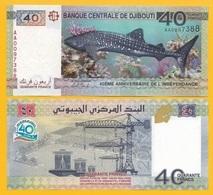 Djibouti 40 Francs P-46 2017 (Prefix AA) Commemorative UNC - Dschibuti