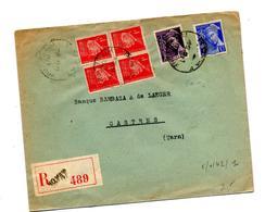 Lettre Recommandée Royat Sur Carre  Petain Mercure - Marcophilie (Lettres)
