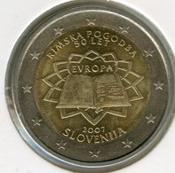 Slovénie Slovenia 2 Euro 2007 30 Ans Du Traité De Rome UNC - Slovenië