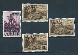 USSR, 1941; Lot Of 4 Unused Stamps MiNr 787 + 791 Type A ** MNH - 1923-1991 URSS