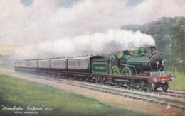 AO20 Trains - Manchester Express, GCR, Near Harrow - Tuck Oilette - Trains