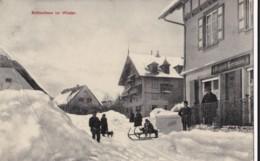 AO89 Schlugsee Im Winter - Snow, Sledging, Richard Hermann, RPPC - Schluchsee
