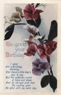AQ52 Greetings - To Greet Your Birthday - Sweet Peas - Birthday