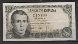 ESPAÑA  BILLETE DE 5 PTS.  EN BUEN ESTADO DE CONSERBACIÓN  (C.B) - [ 3] 1936-1975: Regime Van Franco