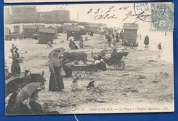 BERCK -PLAGE   La Plage Et Hopital Maritime   Animées       écrite En 1904 - Other Municipalities