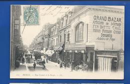 BERCK   Rue Carnot Et Le Bazar    Animées       écrite En 1904 - Berck
