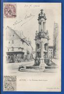 AUTUN   La  Fontaine St Lazare  Animées           écrite En 1904 - Autun