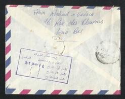 Belgium To Saudi Arabia Registered Air Mail Postal Used Cover - Saudi Arabia