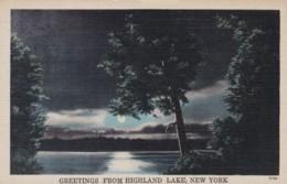 AR55 Greetings From Highland Lake, New York - NY - New York