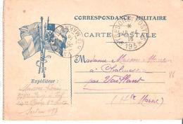 TRESOR ET POSTES * 193 * Simple Cercle Sur Carte De FRANCHISE MILITAiRE - Postmark Collection (Covers)