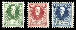 1925, Liechtenstein, 72-74, ** - Unclassified