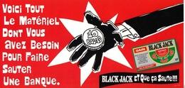 FDJ F.D.J. Fdj FRANCAISE DES JEUX PUB. DE CORNER OU TERMINAL 12,5X25cm SUR UNE FACE BLACK JACK VENDU EN L'ETAT Serbon63. - Billets De Loterie