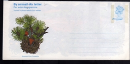 GREAT BRITAIN GRAN BRETAGNA 1986 SCOTTISH PINE CROSSBILLS AEROGRAMME AEROGRAM AIR LETTER UNUSED NUOVO - Interi Postali