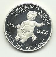 2000 - Vaticano 2.000 Lire Argento - Bimillenario Nascita Gesù - Vaticano