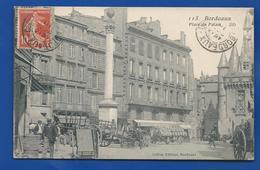 BORDEAUX      Place Du Palais     Animées      écrite En 1910 - Bordeaux