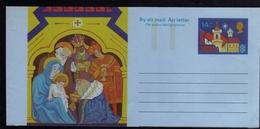 GREAT BRITAIN GRAN BRETAGNA 1980 CHRISTMAS NATALE NOEL AEROGRAMME AEROGRAM AIR LETTER UNUSED NUOVO - Interi Postali