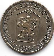 Czechoslovakia 1 Koruna  1964  Km 50  Xf+ - Tschechoslowakei