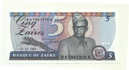 Zaire - 5 Zaires 1982 - Zaire