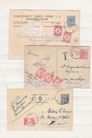 Timbres Taxe  Sur 3 Cartes - Postage Due