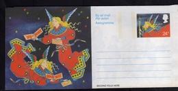 GREAT BRITAIN GRAN BRETAGNA 1982 PEACE CHRISTMAS NATALE NOEL AEROGRAMME AEROGRAM AIR LETTER UNUSED NUOVO - Interi Postali