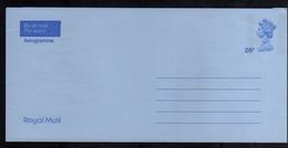 GREAT BRITAIN GRAN BRETAGNA ROYAL MAIL AEROGRAMME AEROGRAM AIR LETTER 26p UNUSED NUOVO - Interi Postali