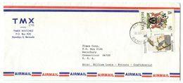 Bermuda 1985 Airmail Cover Hamilton - TMX Ltd., Timex Watches To U.S. - Bermuda