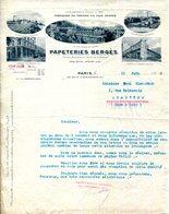 PARIS.LANCEY. ALFORTVILLE.PERSAN.PAPETERIES BERGES 10 RUE COMMINES PARIS. - Printing & Stationeries