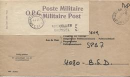 3248/ Lettre Ministerie Justitie Communu De Jette C.4/4/77 +Papillon OPC Poste Militaire Griffe BXL 9 > Krijgs Auditeur - Marcophilie
